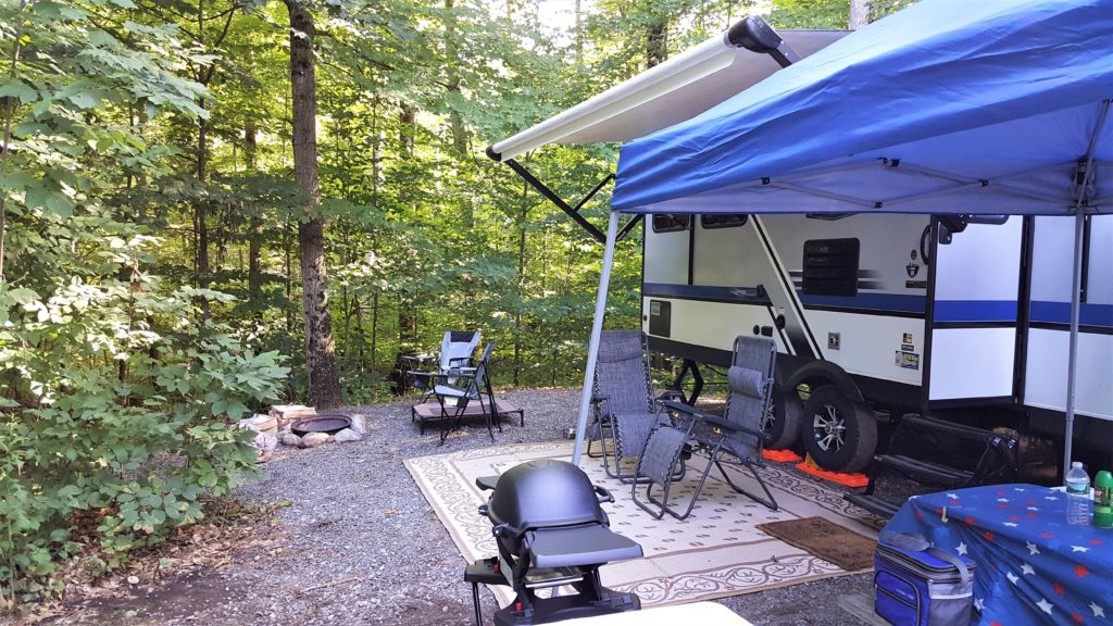 travel trailer camping site North Pole Resorts