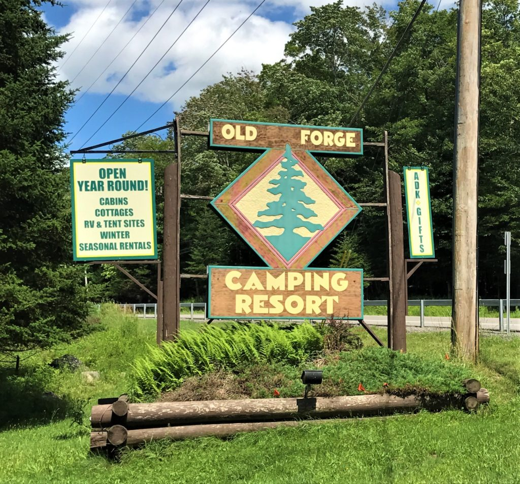 Entrance to Old Forge Camping Resort Old Forge New York
