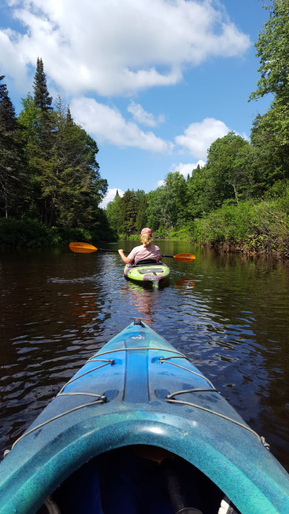 kayaking the Moose River in Old Forge New York