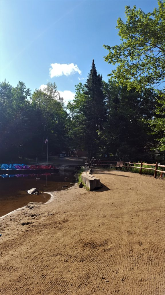 Paddleboat rentals at Old Forge Camping Resort