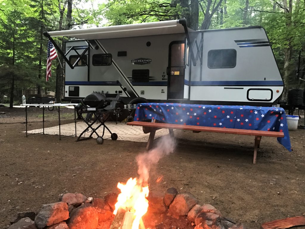 RV camping at Old Forge Camping Resort