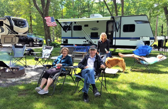 Family RV Camping at the Campground
