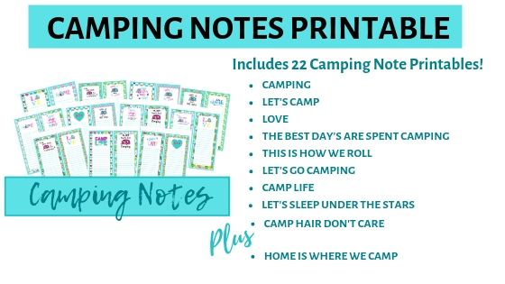 photograph regarding Rv Camping Checklist Printable called RV Tenting Be aware Printables Livin Existence With Lori
