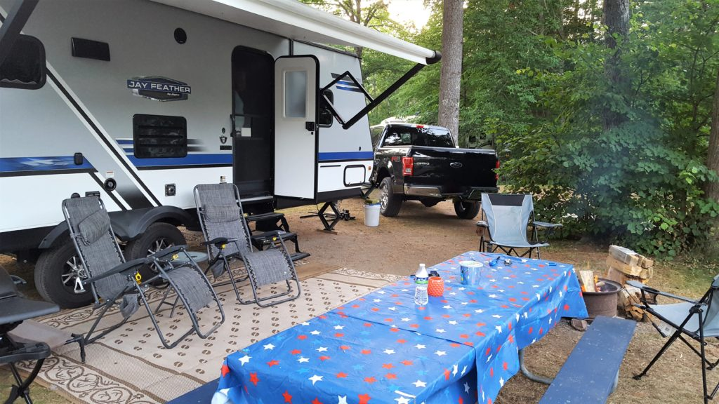 Campsite at Smugglers Den Campground Acadia Maine