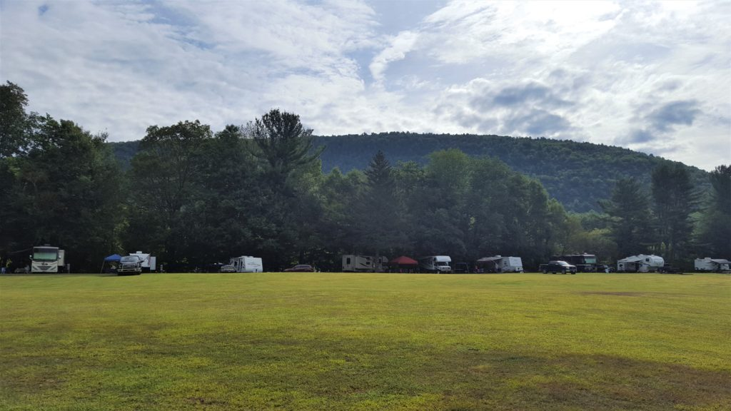 morning view at Nickerson Park Campground