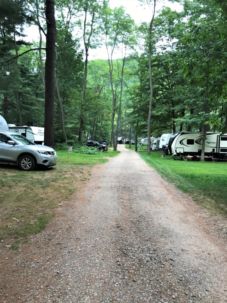 wooded RV Sites at Nickerson Park Campground