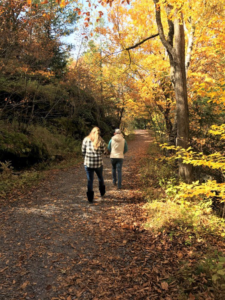 fall hiking catskill mountain house