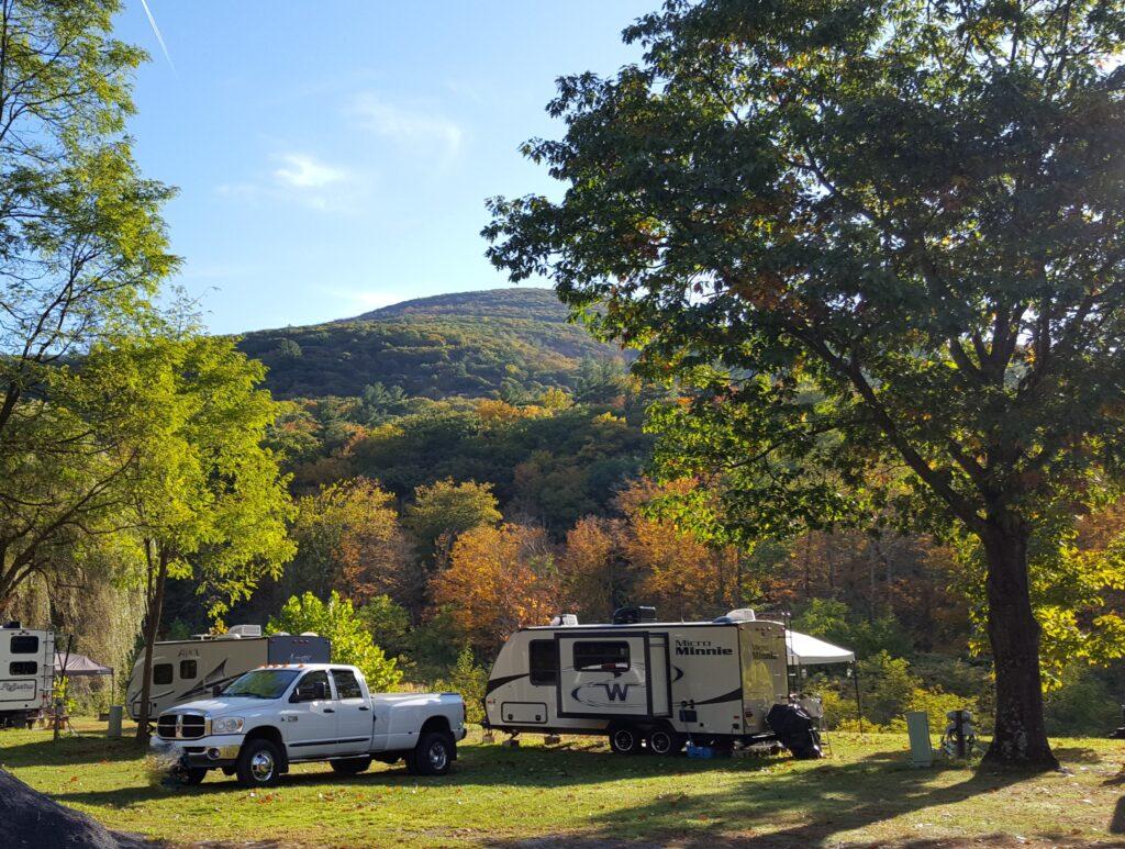 Fall camping at Sleepy Hollow Campgrounds