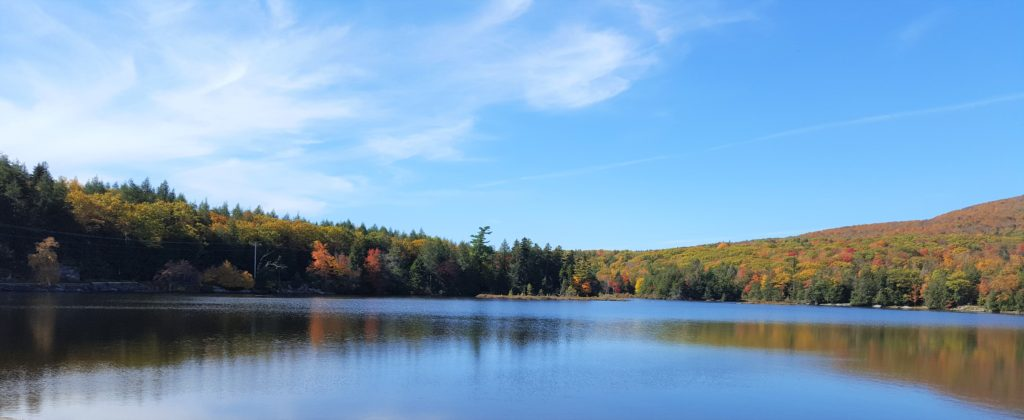 North South Lake New York in the fall