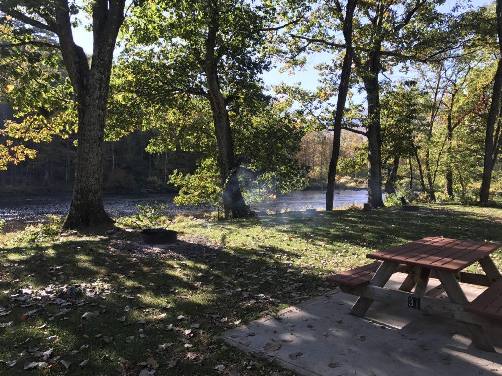 RV Campsite along the river