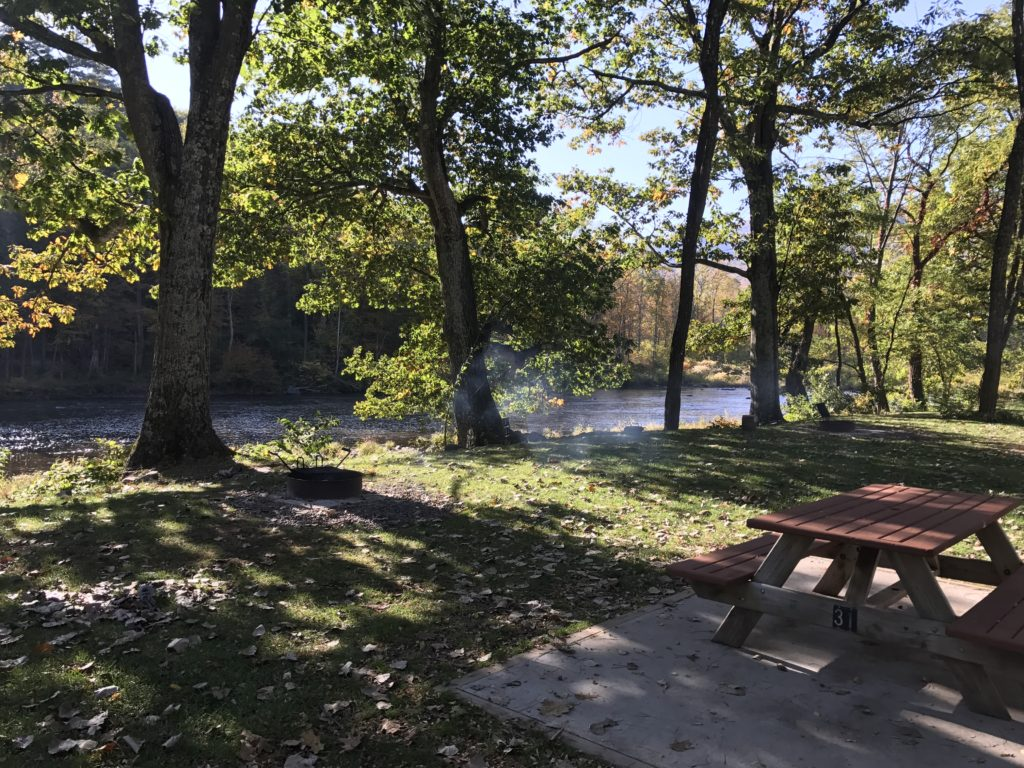 fall camping at Sleepy Hollow Campground
