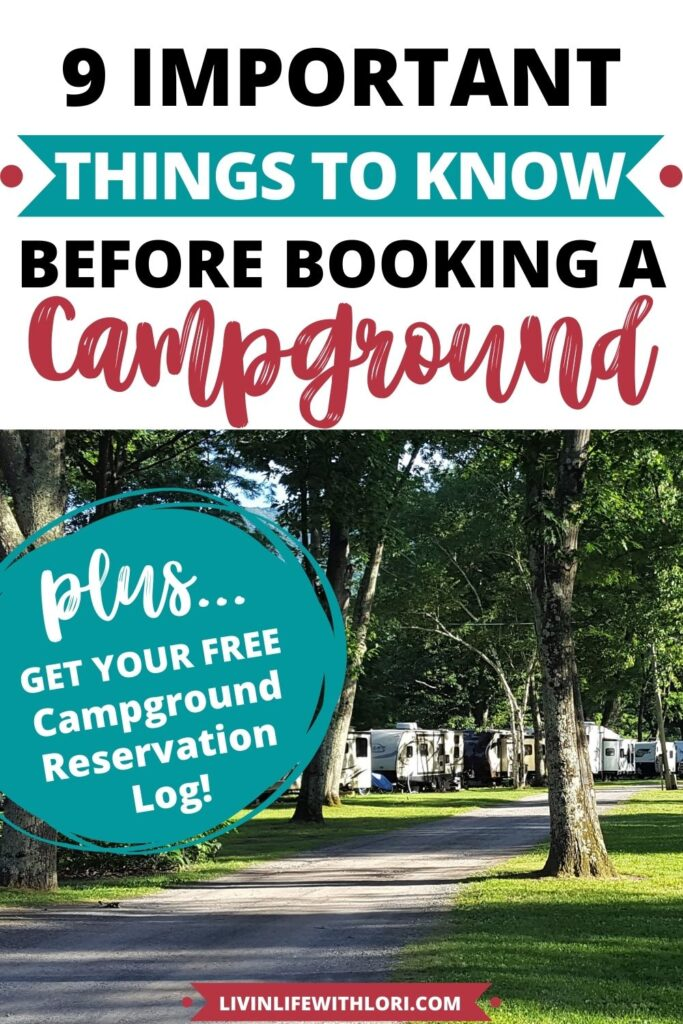 RV campers in campground
