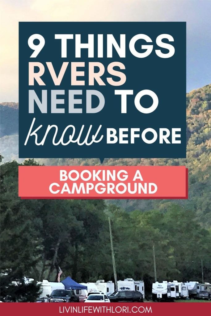 What RVers Need To Know Before Booking a Campground