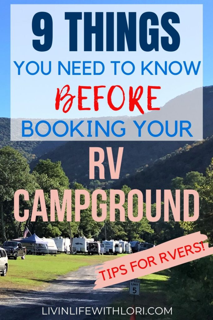 RV Tips What You Need To Know Before Booking Your RV Campground