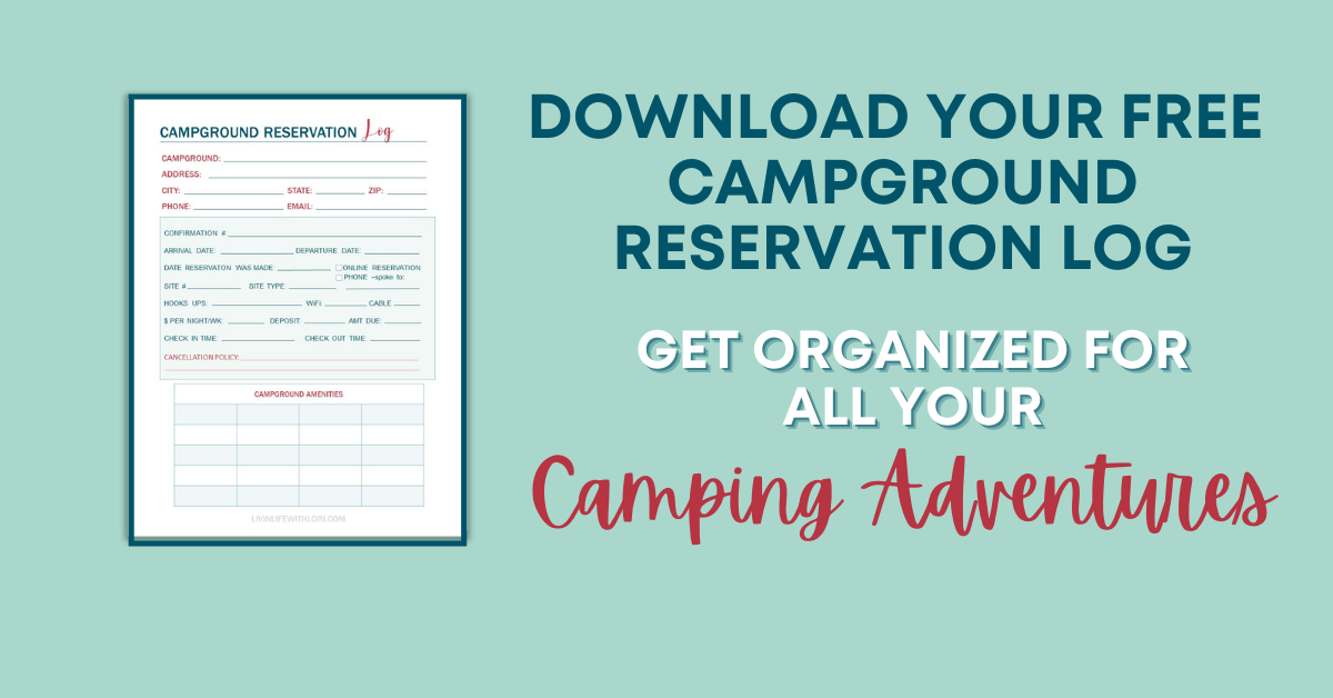 FREE Opt In Campground Reservation Log