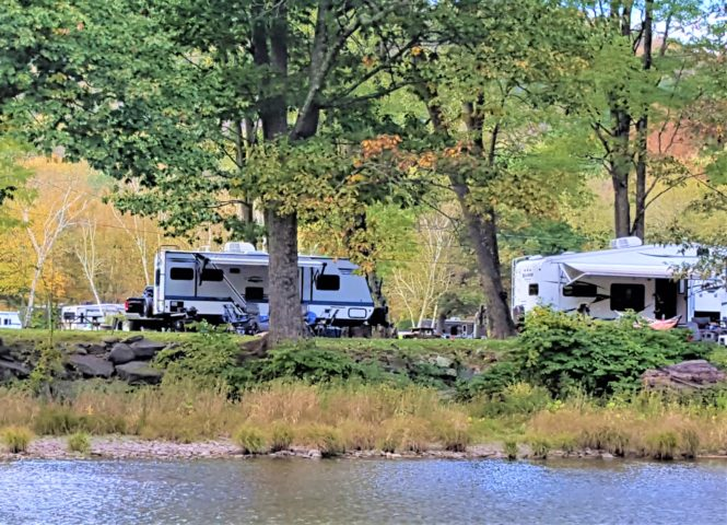 Campground in the Catskill Mountains