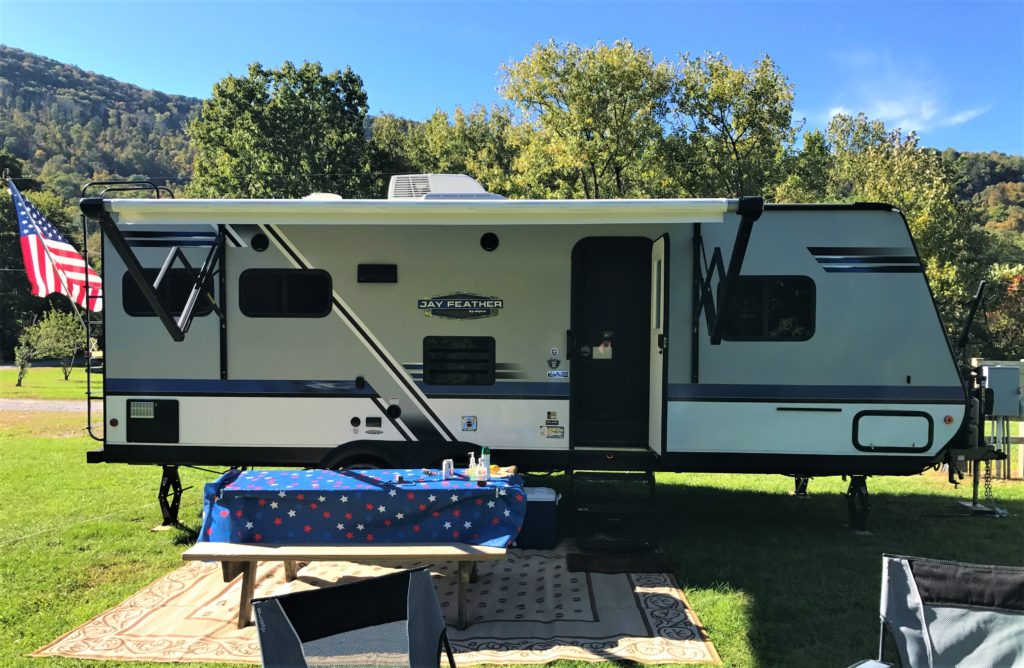 RV campground with our camper trailer