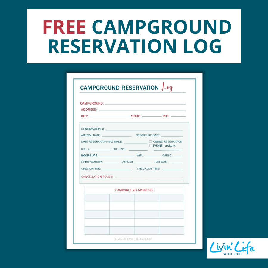 Free Campground Reservation Log