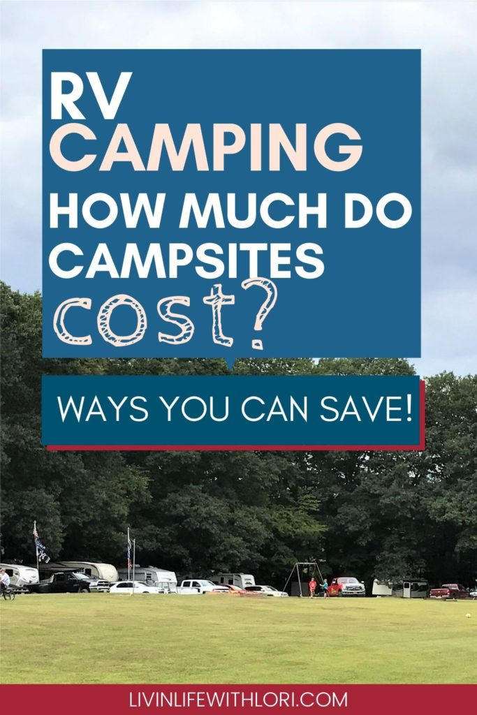 What is the cost of camping at an RV campsite