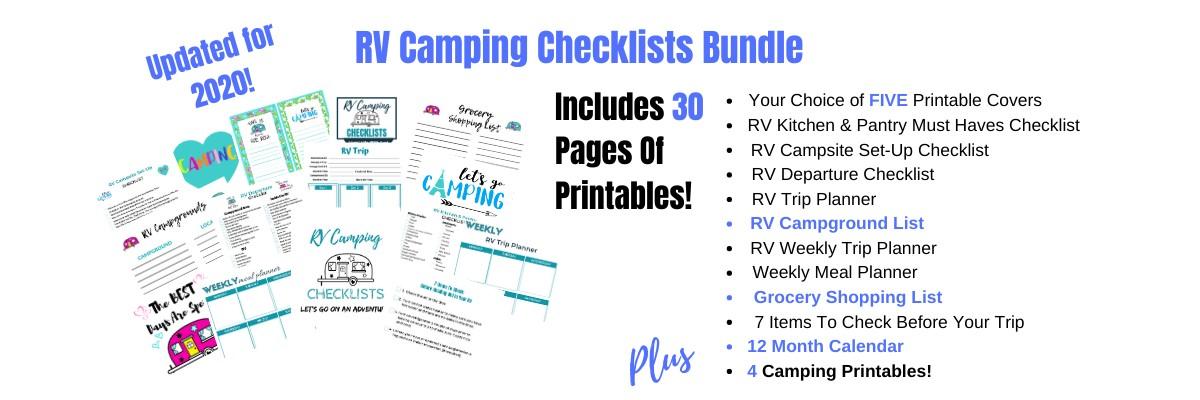 RV Camping Checklists New