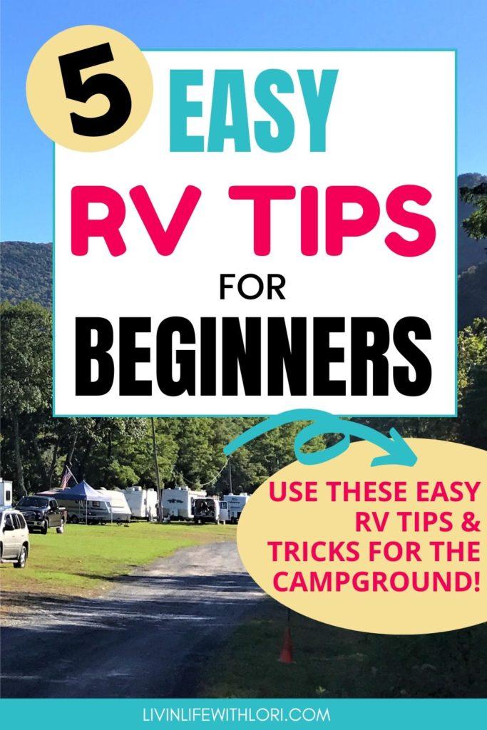 Easy RV Tips For Beginners