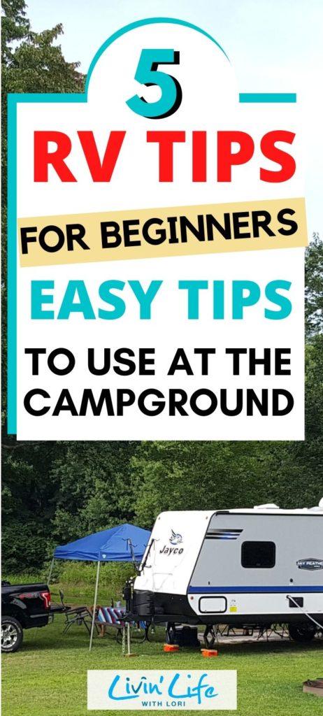 5 RV Tips For Beginners