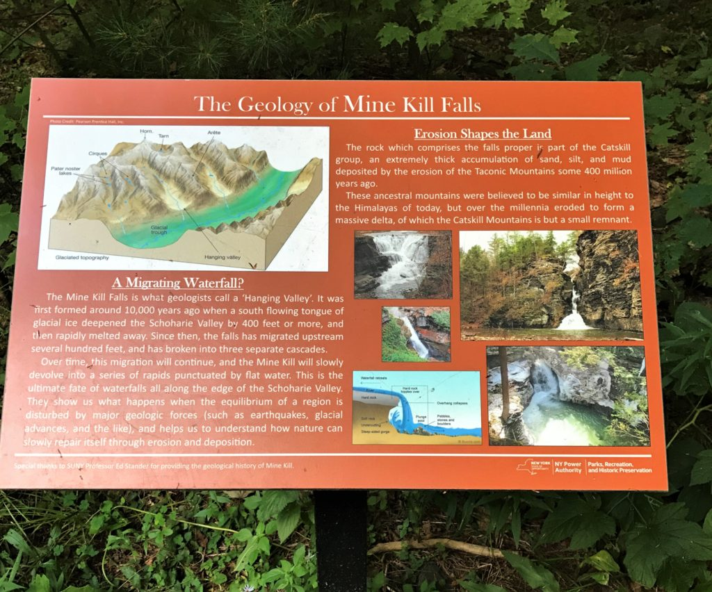 Geology information at Mine Kill State Park