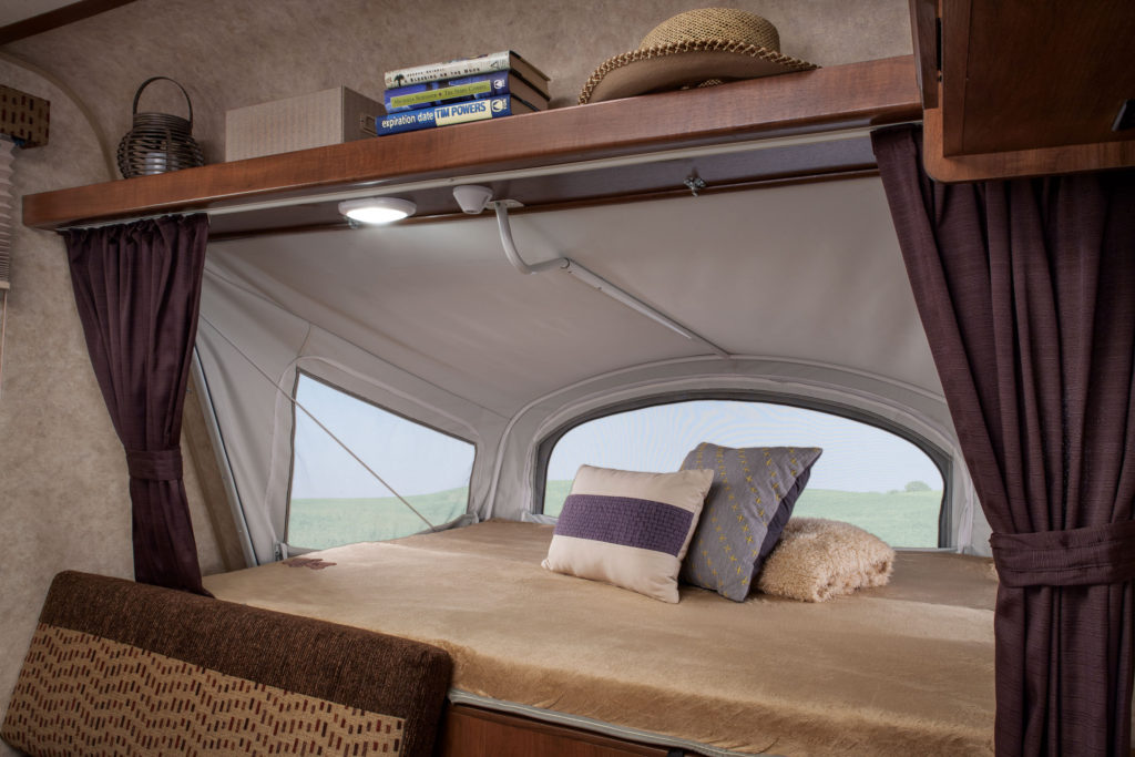mattress in an RV pop up camper