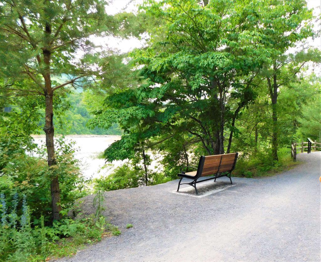 Benches along the Ashokan Rail Trail