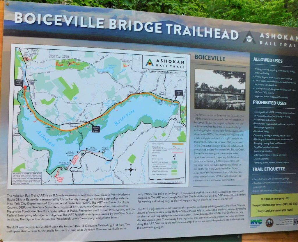 Boiceville Bridge Trail map