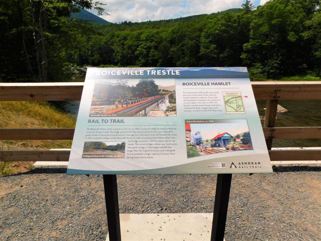 Boiceville Trestle signage along the ART