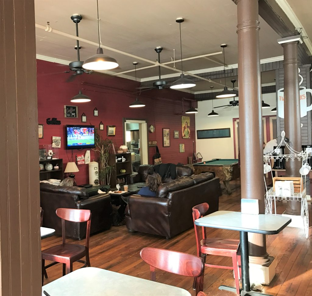 Relax in couches at Twin Peaks Coffee Shop