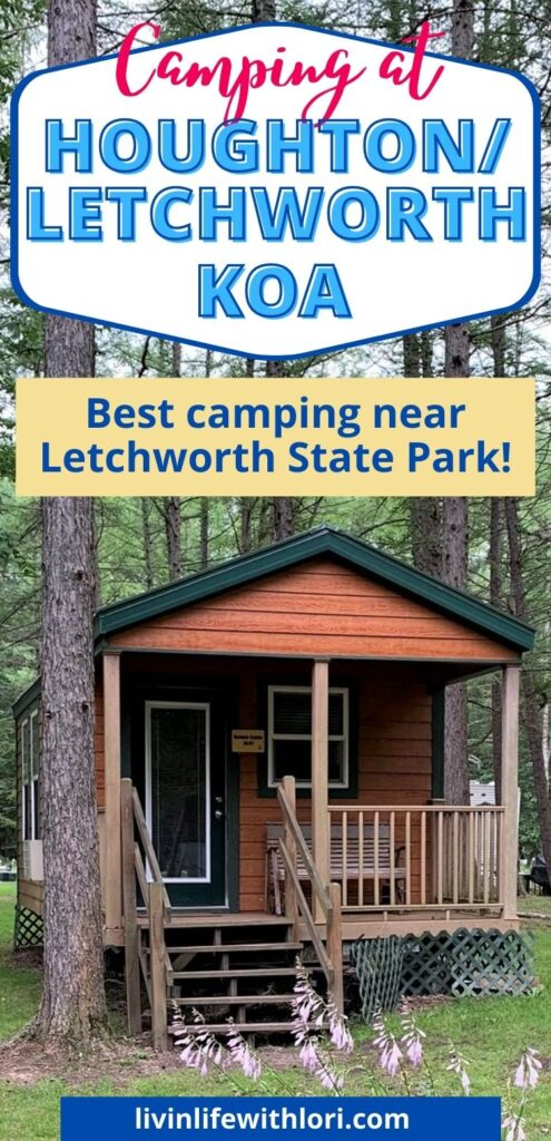 cabins at Houghton Letchworth KOA