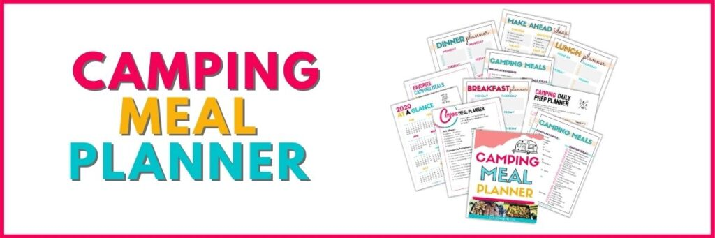 Camping Meal Planner Printable