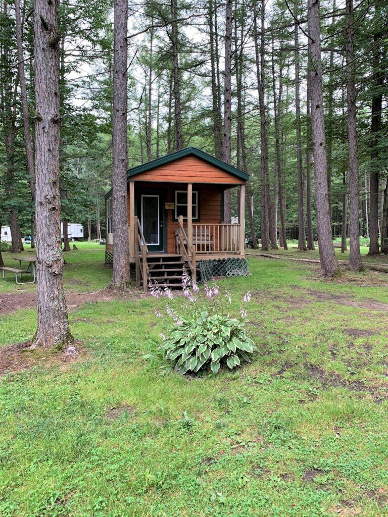 cute camping cabins