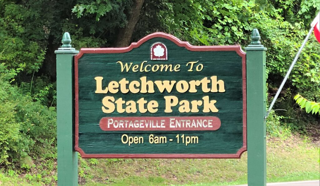 Portageville Entrance To Letchworth State Park
