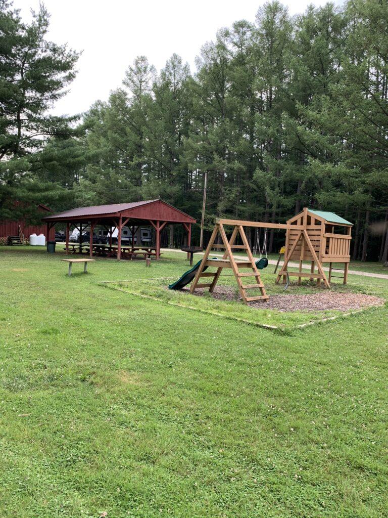 Playground and Pavillion at KOA campground