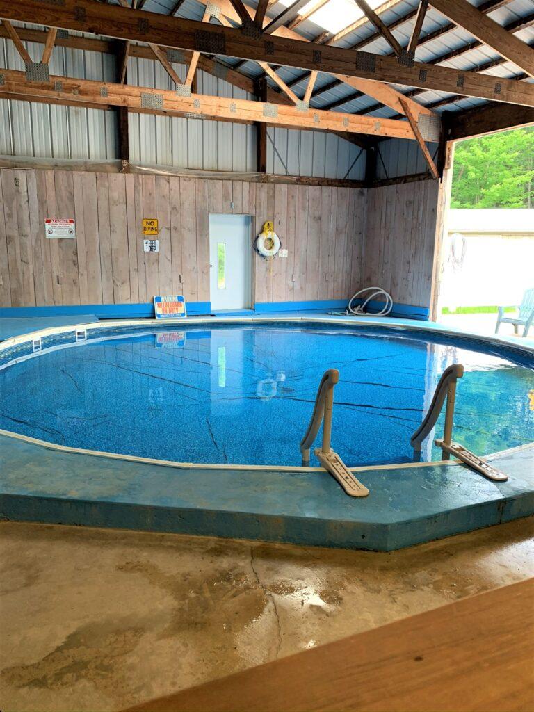 indoor pool at Houghton Letchworth KOA