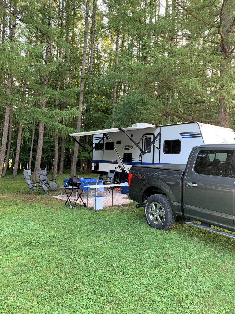 Large RV sites at campground
