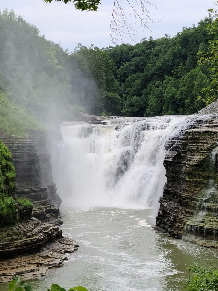 Lower Falls area Letchworth State Park