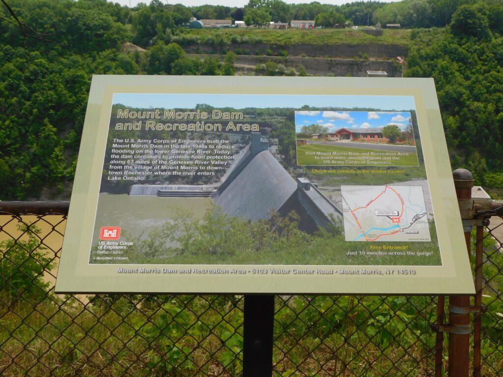 Mt Morris Dam Signage