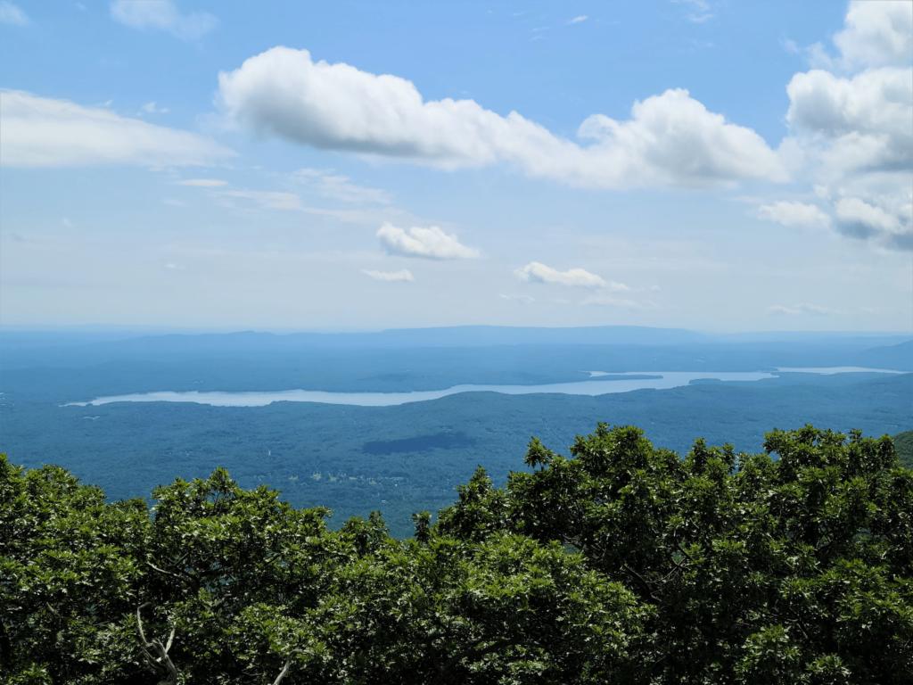 Ashokan Reservoir from top of Overlook Mountain Fire Tower