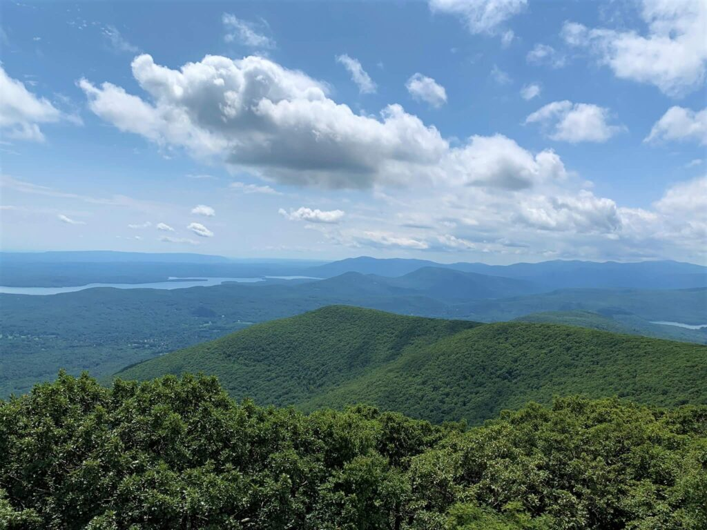 Catskill Mountains from top of Overlook Mountain Woodstock NY