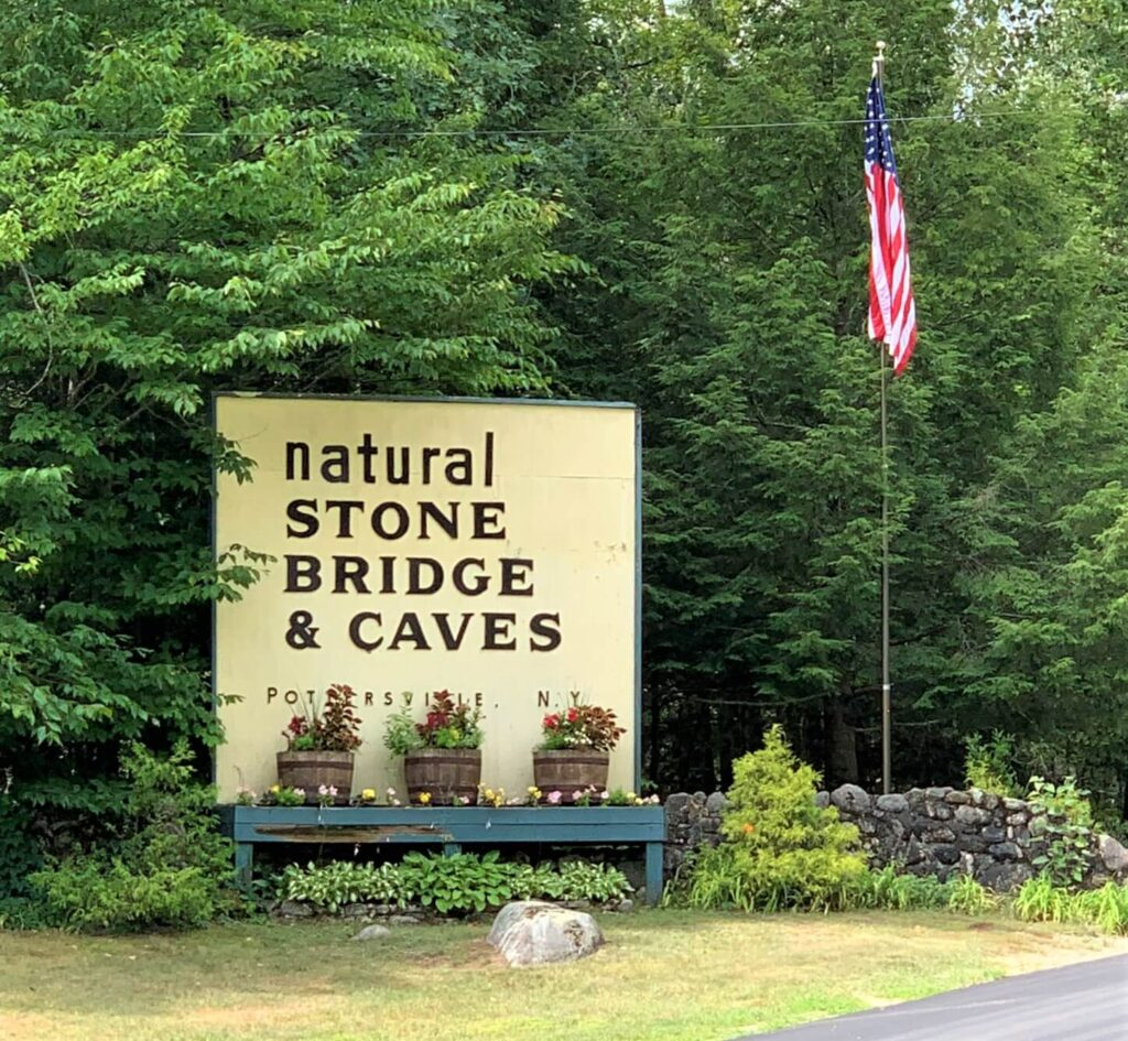 Entrance to Natural Stone Bridge and Caves Pottersville, NY