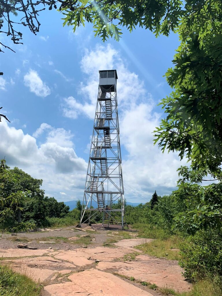 Fire Tower top of Overlook Mountain Woodstock NY