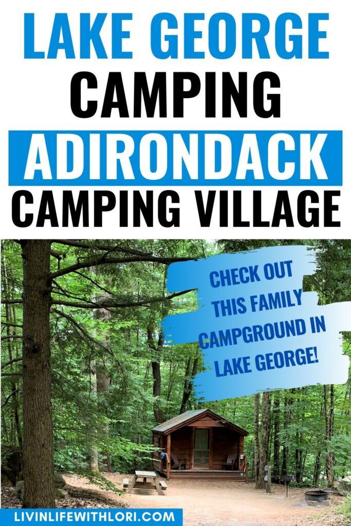 Lake George Camping at Adirondack Camping Village Resort