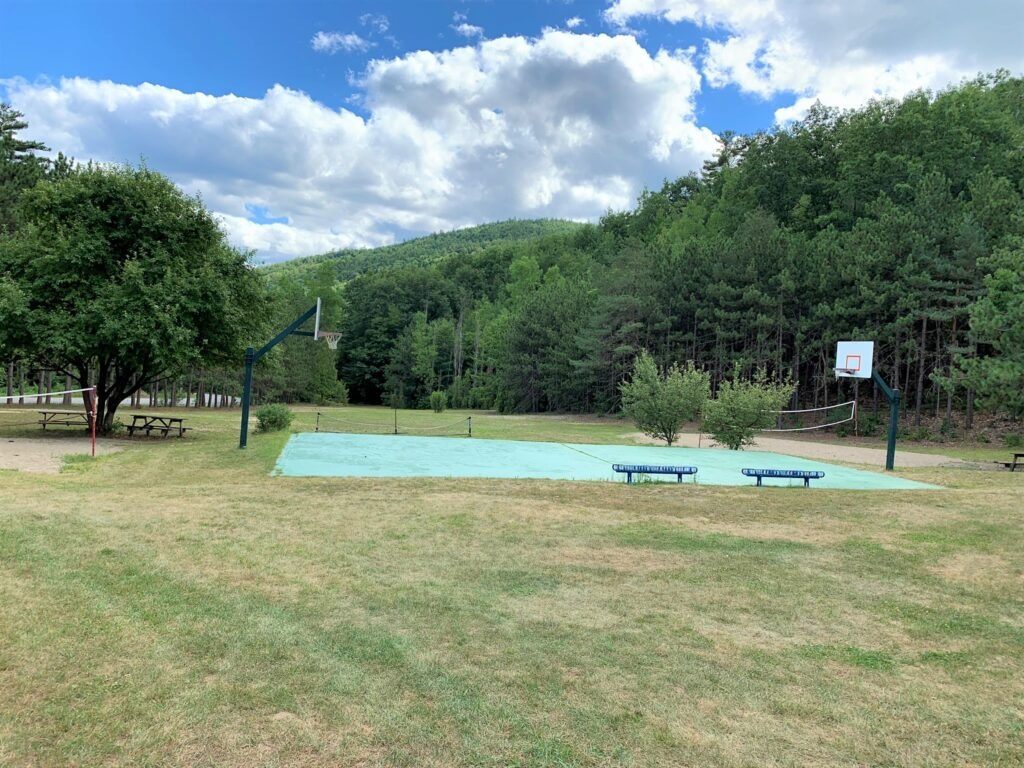 Lake George campground Adirondack Camping Village playground