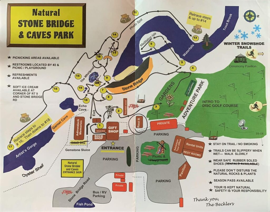 Map of Natural Stone Bridge trails