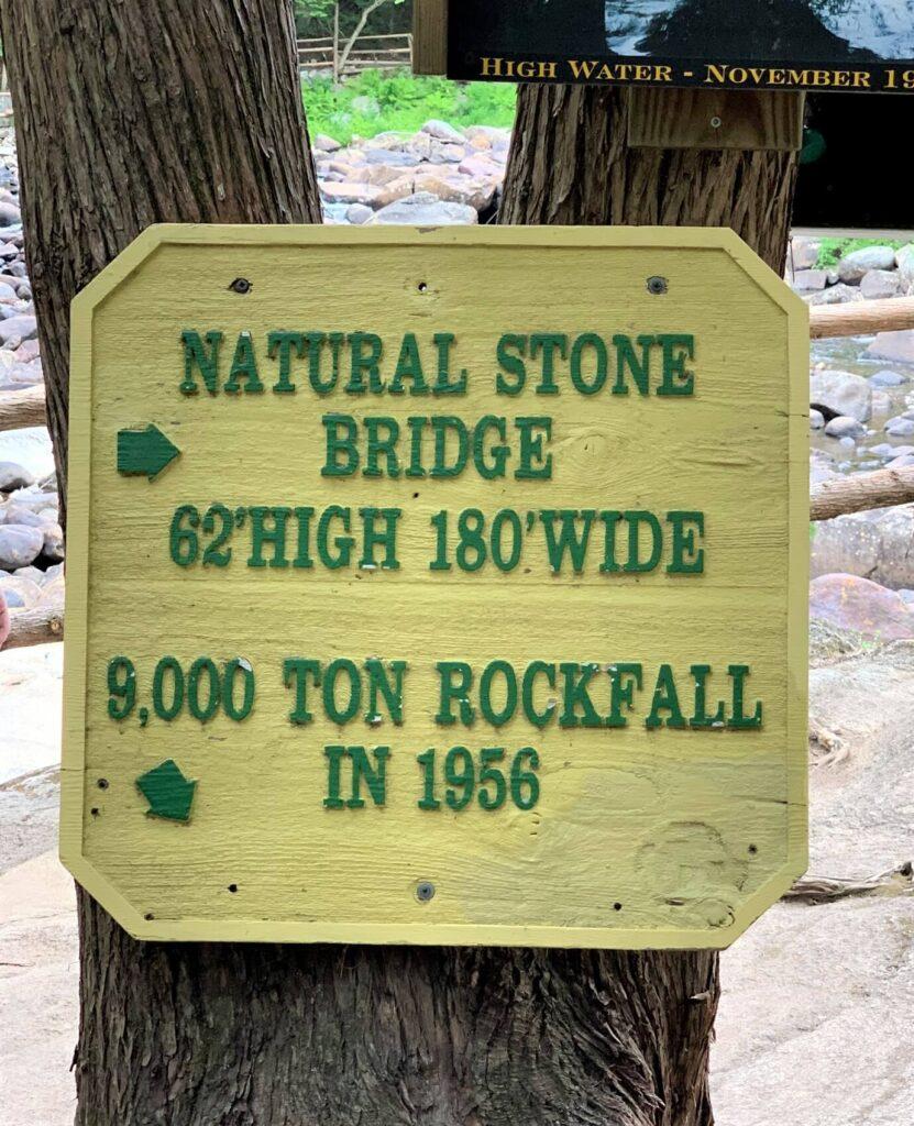 Natural Stone Bridge Height Sign