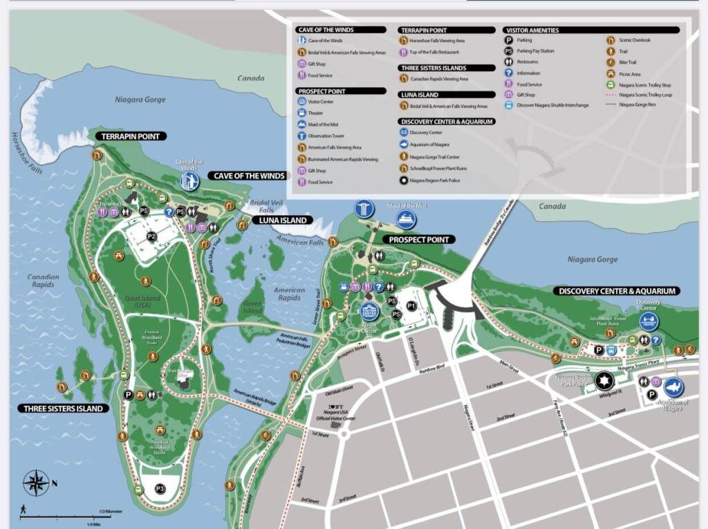 Niagara Falls Park Map